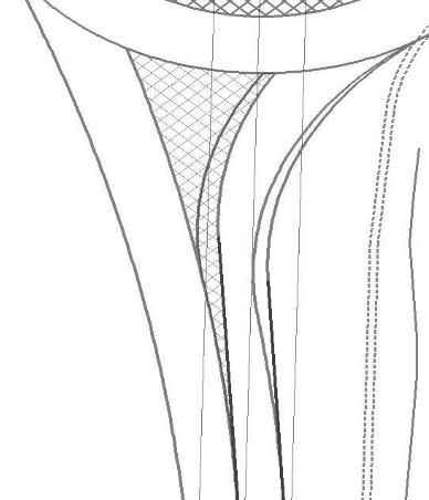 Isleta triangular